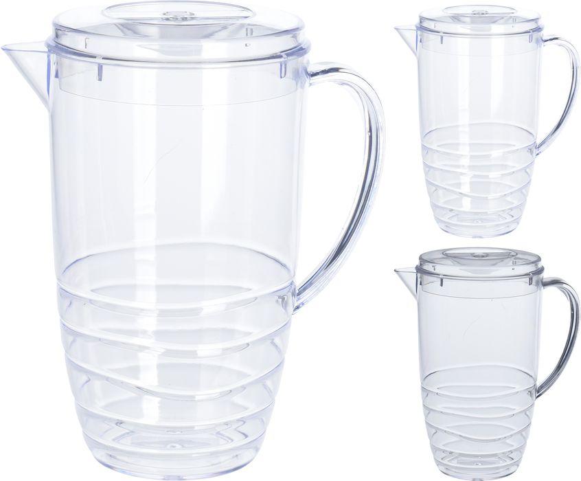 džbán 2,5l pevný, transp.plast