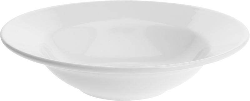 talíř d27cm na těstov., hluboký, bílý porcelán