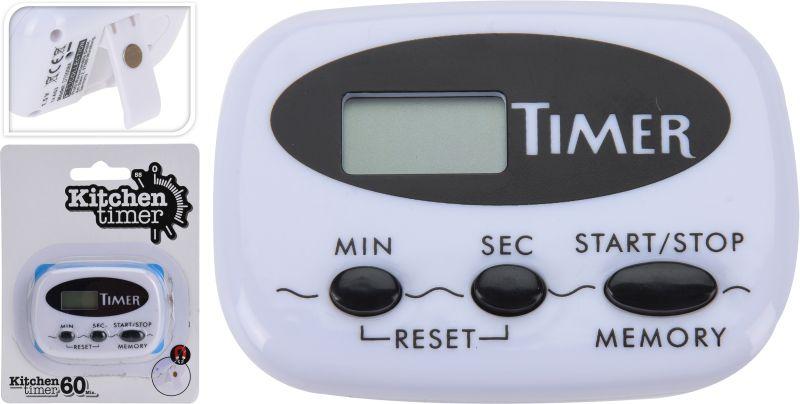 minutník digitální, stojánek+magnet