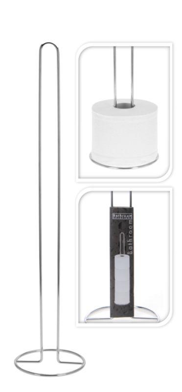 stojan WC papíru, kovový d13,5x60cm