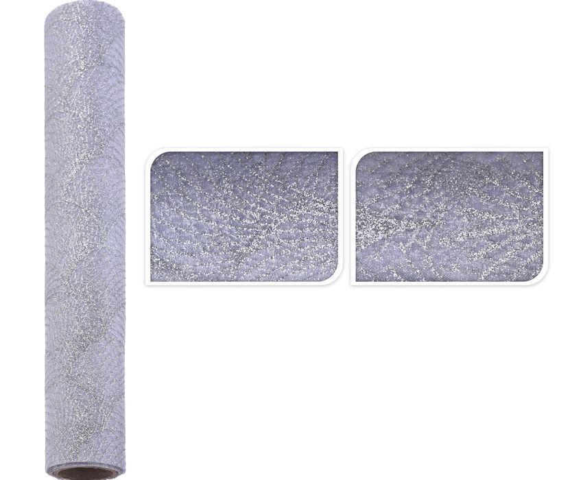 látka DF ORGANZA 28x300cm, stříbrná, 2dekory