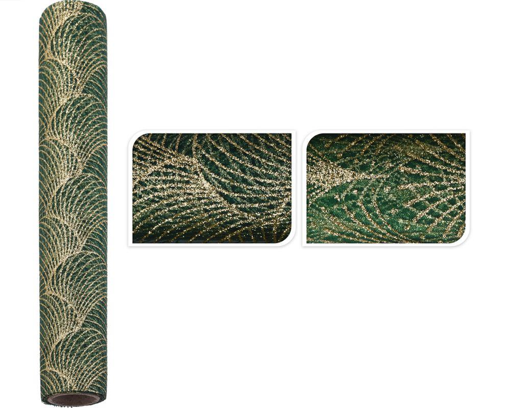 látka DF ORGANZA 28x300cm, zelená, 2dekory