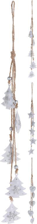 dekorace 30cm, 3druhy, kov, závěsná