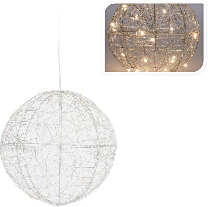 dekorace d18cm, KOULE propl., LED osvětlení