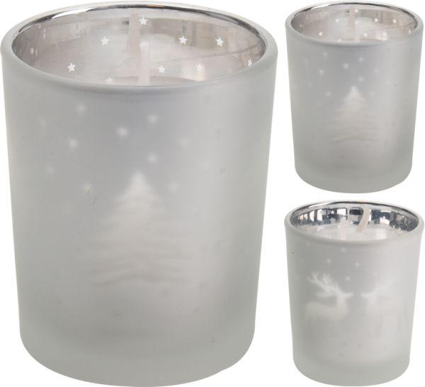 svíčka d55x6cm vánoční ve skle
