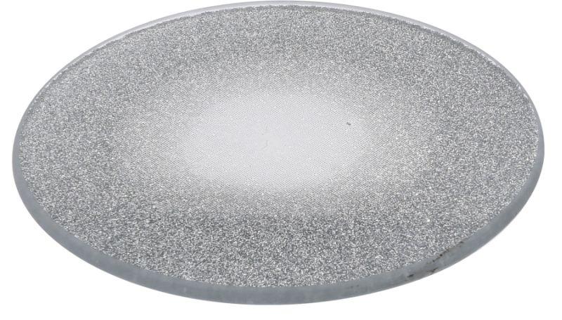 svícen-podl. d10cm, pod svíčku, stříbrný, sklo