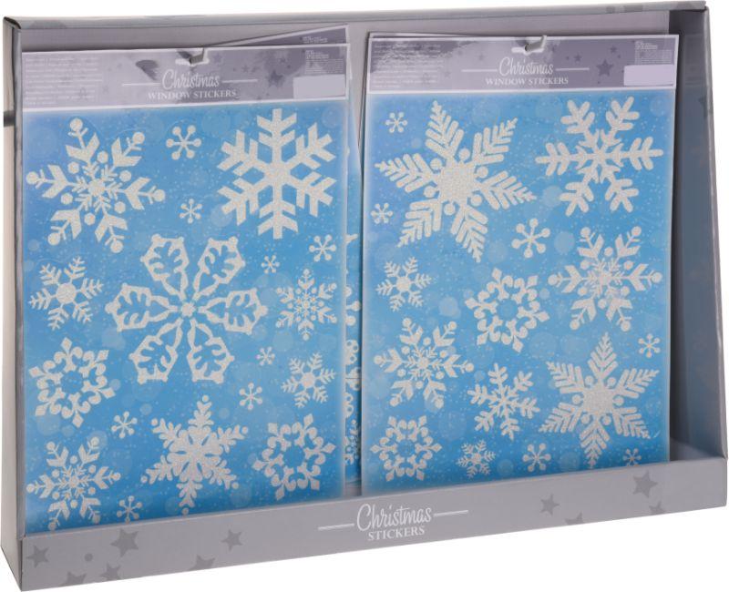 dekorace vánoční 42x30cm na okna