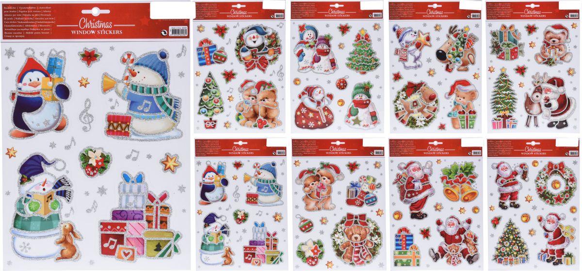 dekorace vánoční 30x21cm, 8druhů, na okna