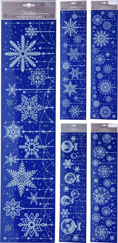 dekorace vánoční 64x15cm, 4druhy, na okna