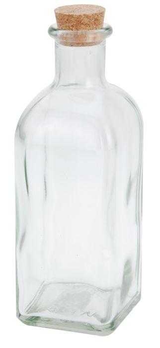 láhev 0,50l,hran.+kork.zátka, ocet/olej, sklo