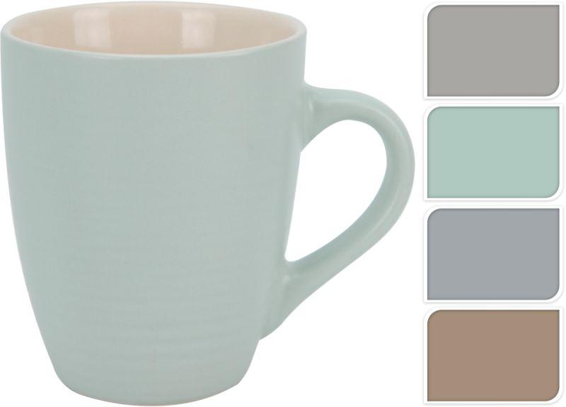 hrnek 300ml kónický, 4barvy, A17, keramika