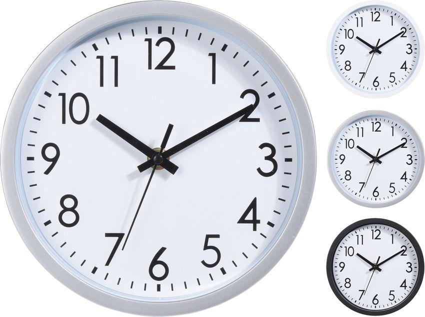hodiny d20cm, 3barvy, kulaté nástěnné
