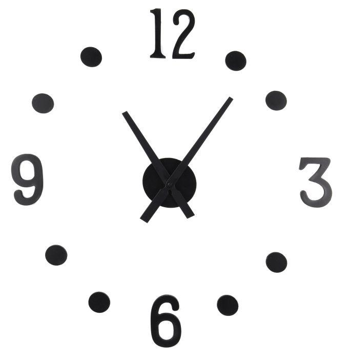 hodiny nástěnné,ručičky 23,5cm a 30cm, (Udělej si sám), černé
