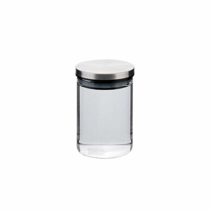 dóza 0,50l, d8,5x12cm AIRTIGHT, sklo+těsn.kov.víčko