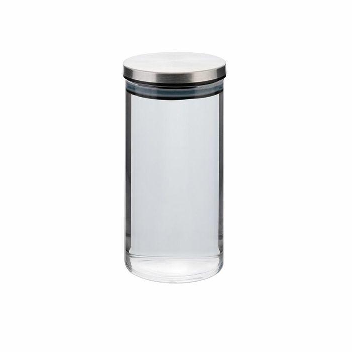 dóza 0,80l, d8,5x18cm AIRTIGHT, sklo+těsn.kov.víčko
