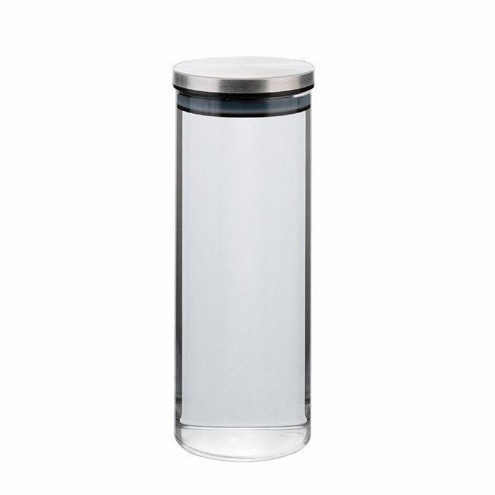dóza 1,00l, d8,5x22cm AIRTIGHT, sklo+těsn.kov.víčko