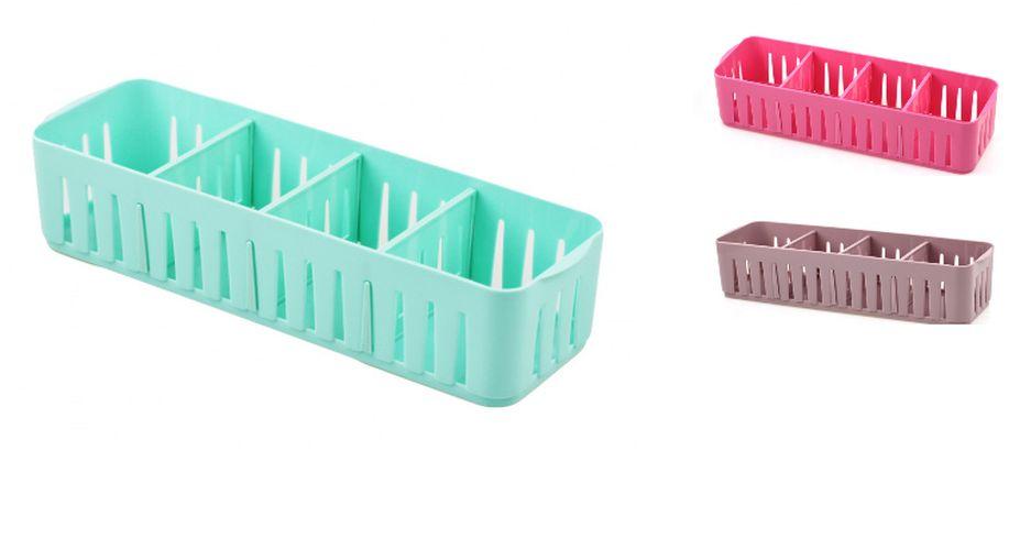 organizér menší 32,5x10,5x7cm, plast, mix barev