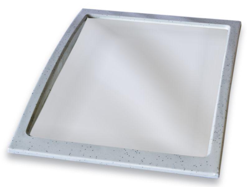 zrcadlo 28,0x22,0cm obdélník plast.rám