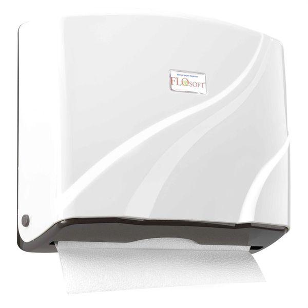 zásobník skl.pap.ruč.27x27x8,5cm, transp.modrý