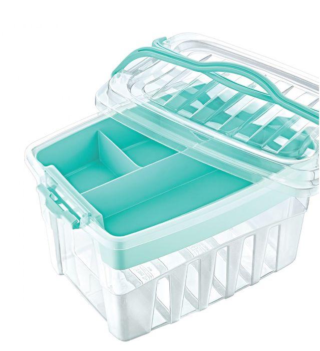 box  9,00l, 30x22x18,5cm, PIKNIK, 2ucha, transp.plast