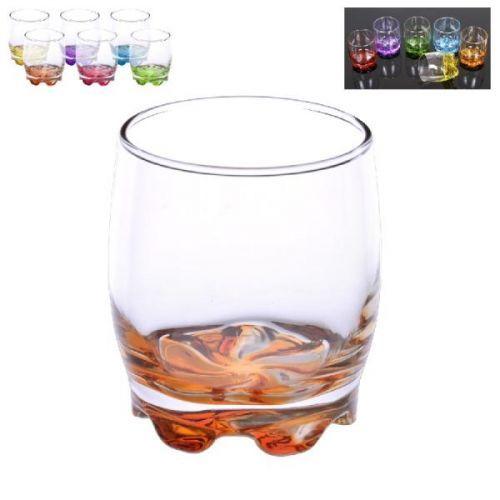sklen. 290ml, 6ks, ADORA barev., whisky