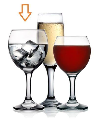 sklen. 260ml, 6ks, MISKET v.16cm (FAN), voda, víno