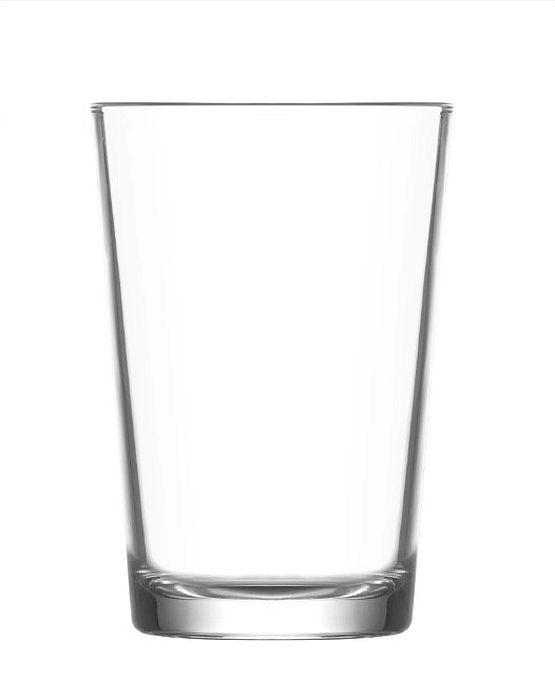 sklen. 200ml, 6ks, LARA, d38x99mm,hladká, kónická, voda