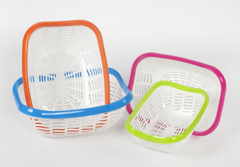 košík 27,6x21x10,5cm, 2barevný plast