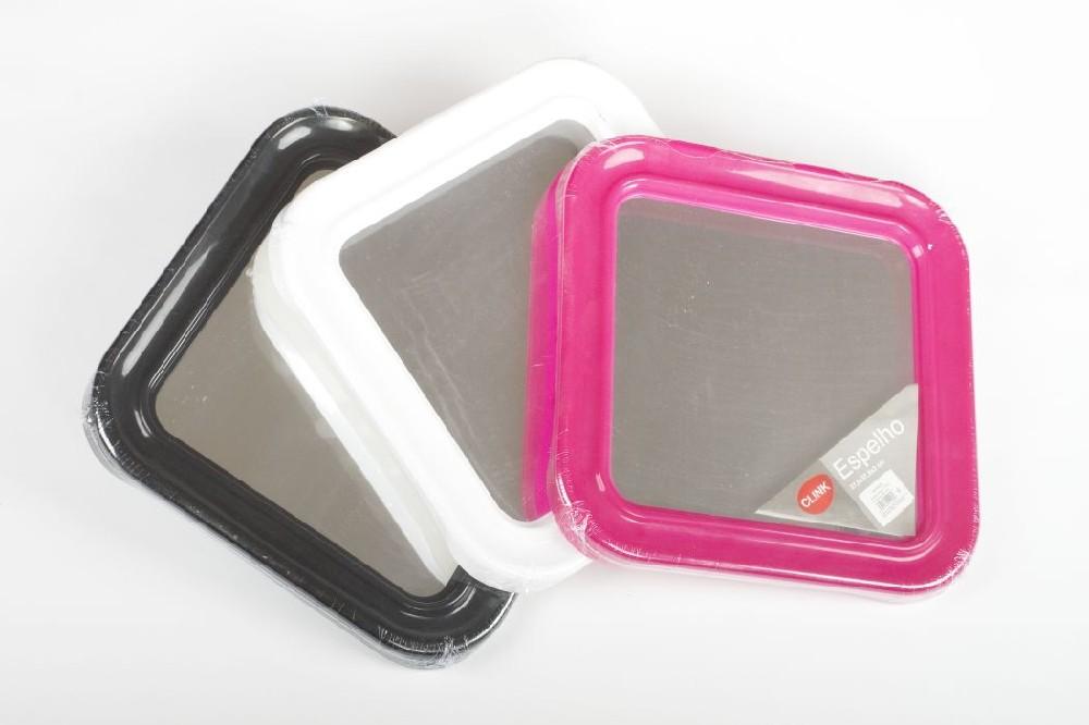 zrcadlo 37,5x37,5x3cm, mix barev, plast.rám