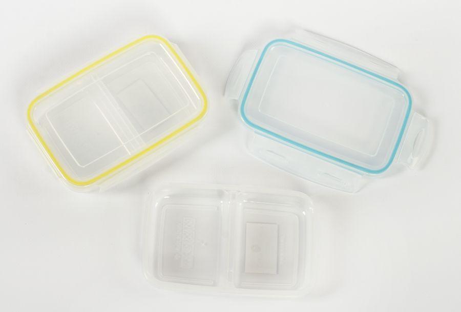 box  0,7l svačina dělený, 17,6x11,9x3,8cm, plast