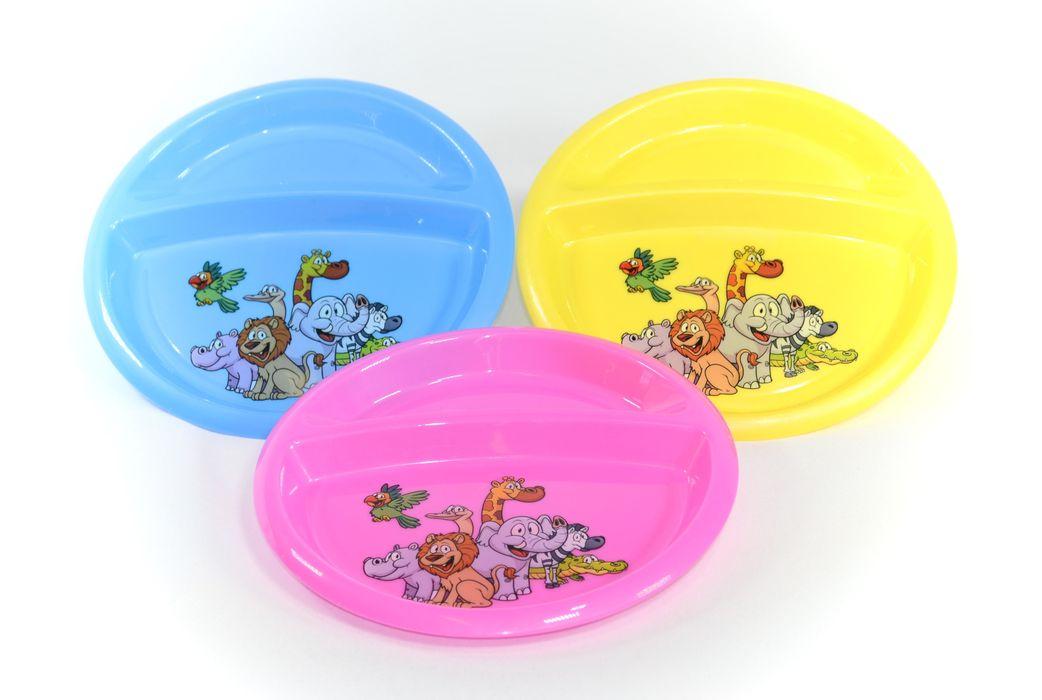 talíř d21x1,9cm, DEKOR dětský, dělený, plast