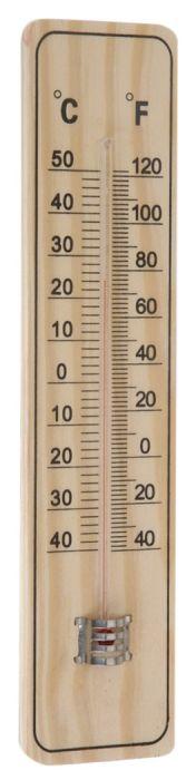 teploměr 22,0x5cm univ., -40°C+50°C, dřevo