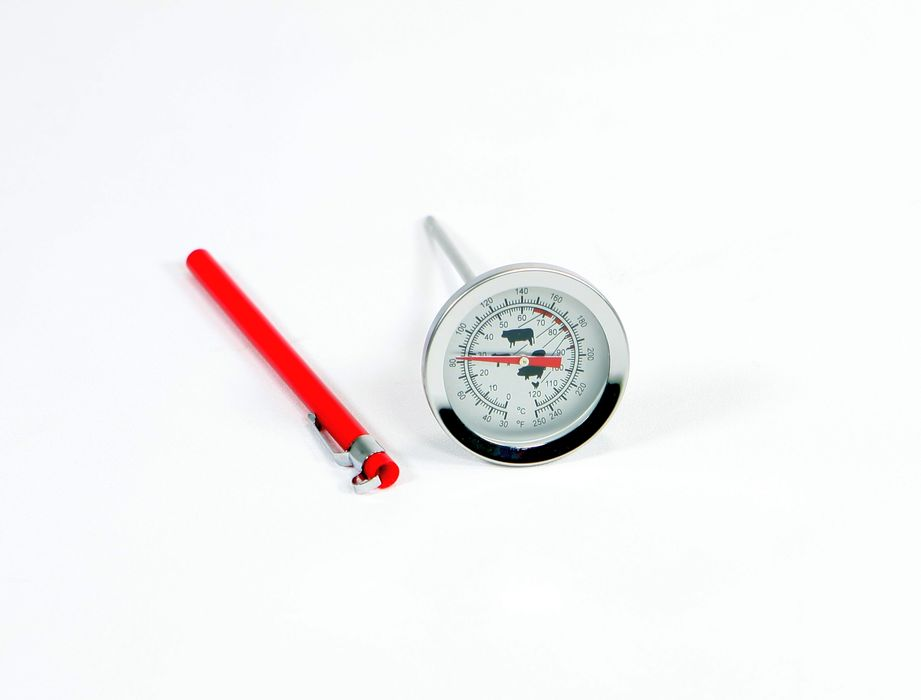 teploměr   d6x14cm vpich., 0°C+120°C,            do masa, pouzdro