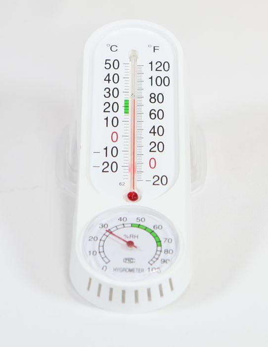 teploměr  +vlhkoměr 22x6,5cm, -30°C+50°C, plast