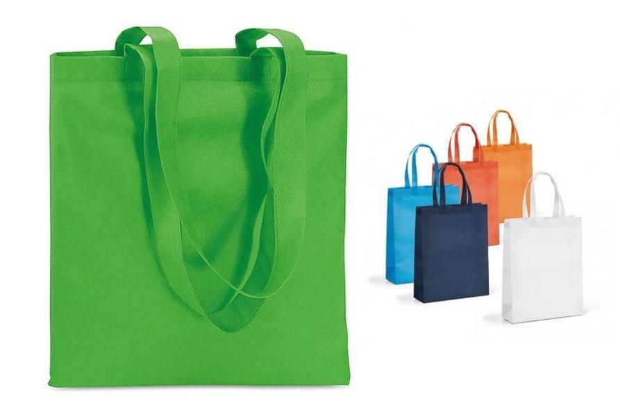 taška nákup.  9l, 35x25x10cm, MIX barev, netk.textil