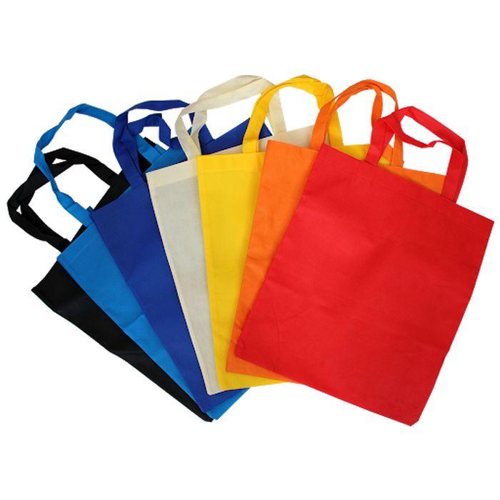 taška nákup. 15l, 45x35x10cm, MIX barev, netk.textil