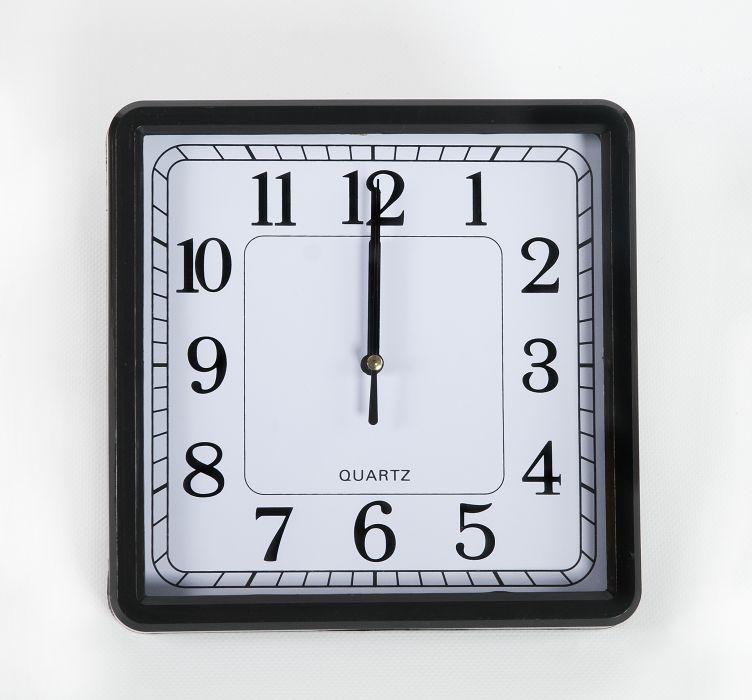hodiny čtverc.21x21cm,černý rám