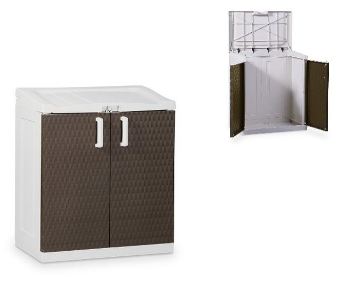 skříňka 102x90x54cm RATAN,béžová,plast