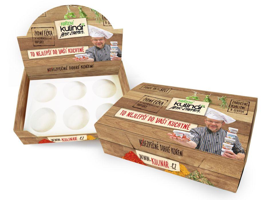 krabice pro 6 ks koření Kulinář, prázdná